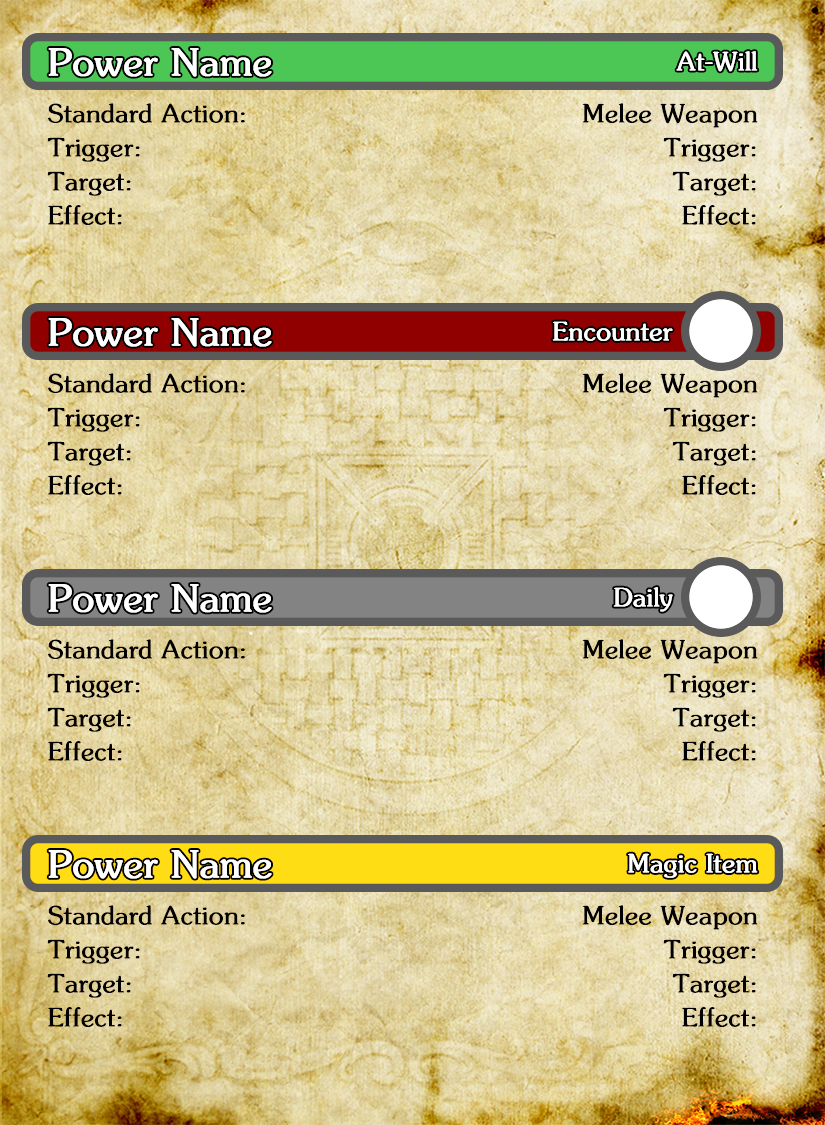 d d 4th edition character card template photoshop powercell